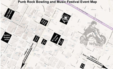2012 Punk Rock Bowling and Music Festival Map