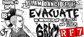 Show Preview: Evacuate w/ The Grim, RF7, All Out Attack, Civil Disgust, Hollywood Hate, The DiPS, The Runts, The Infirmities, UnDead Kennedys, Corrupted Youth, Hari Kari, Underground Alliance, Child Abduction + more - at The Airliner - Los Angeles, CA - May 31, 2013